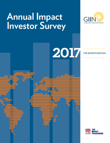 annual impact investor survey 2017 the giin